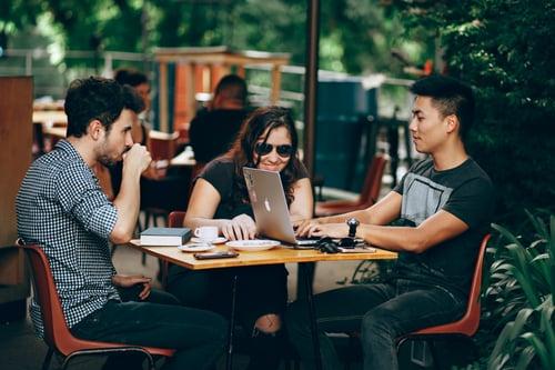 startup having meeting