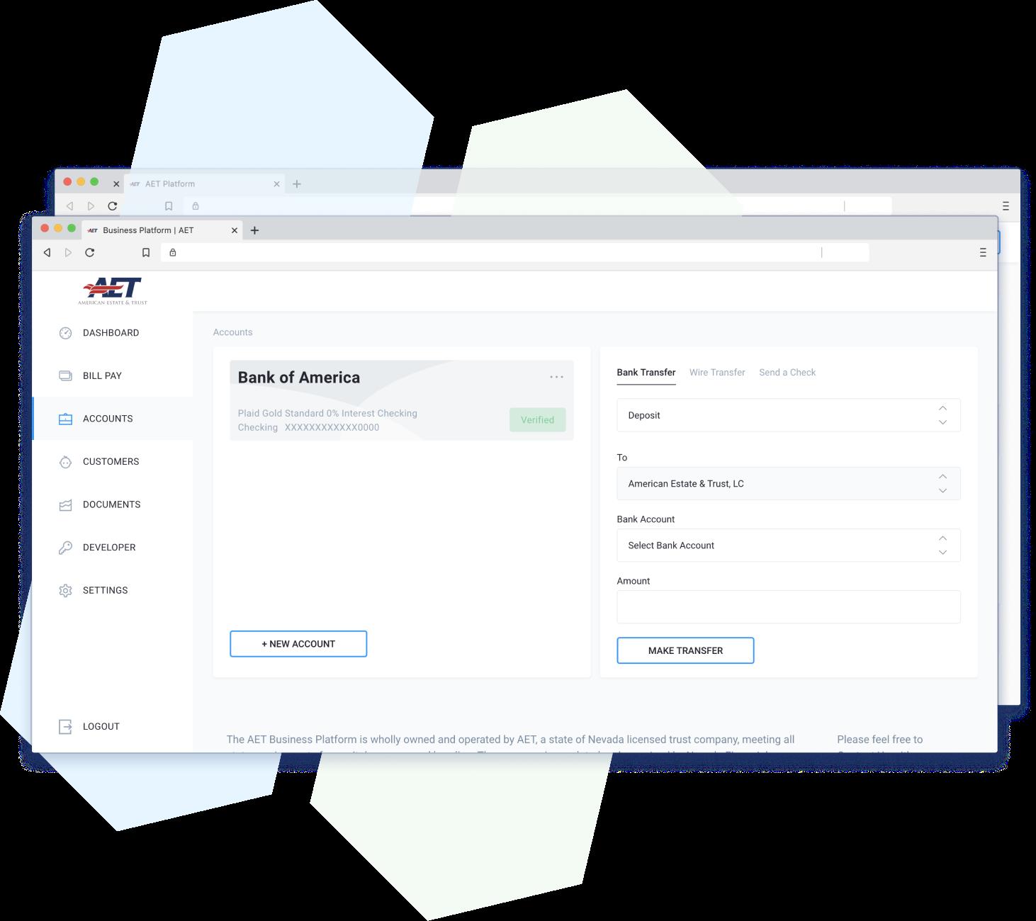 platform screenshot of accounts view2