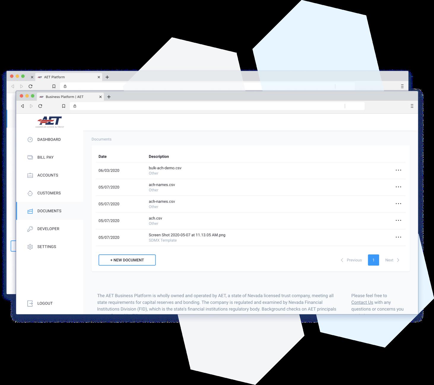 business platform documents